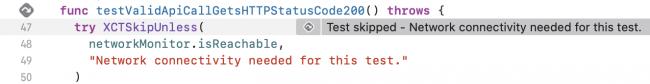 iOS Unit Testing: Test Skipped