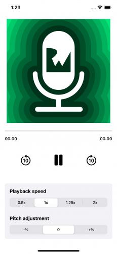 Playing audio with UI feedback.