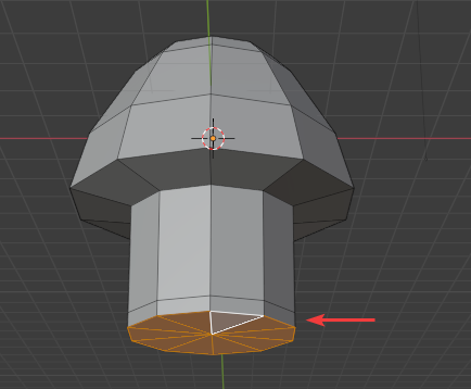 Extruding the bottom a bit again