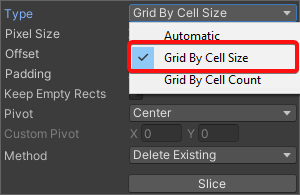 Slice Option: Grid By Cell Size