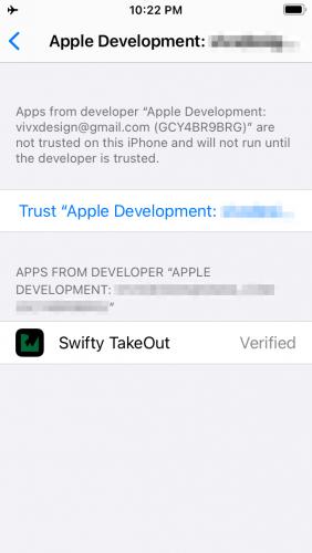 Screenshot Settings Apple Developer Trust
