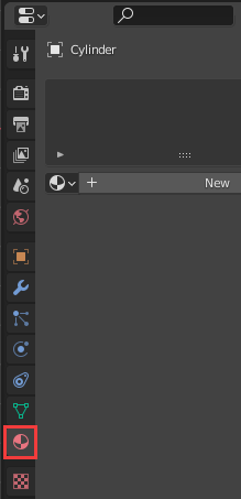 The Material Properties button in the Properties region
