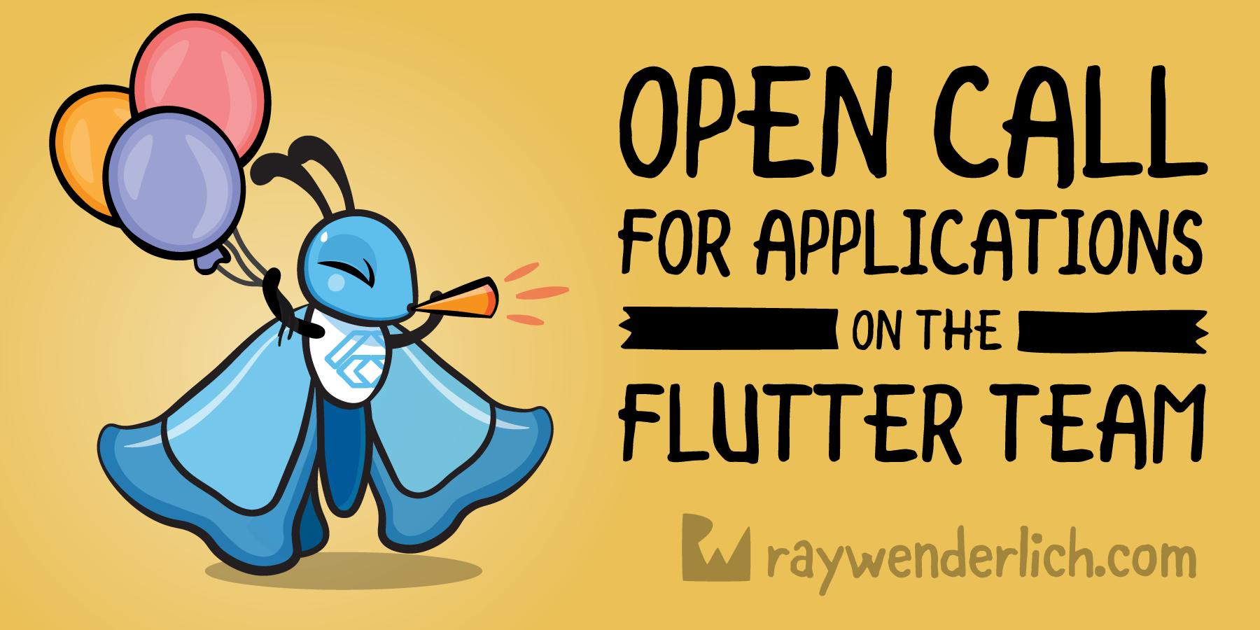 Open Call for Applications on the Flutter Team [FREE]