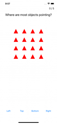 Pattern with all red triangles pointing upward