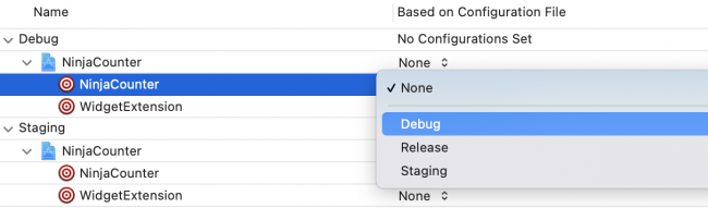 Changing configuration file setting