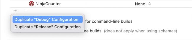 Adding a new build configuration