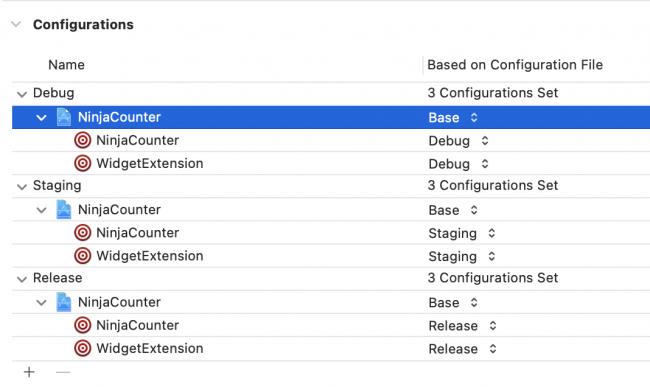 Setting project configuration file
