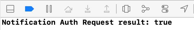Notification Auth Request result: true
