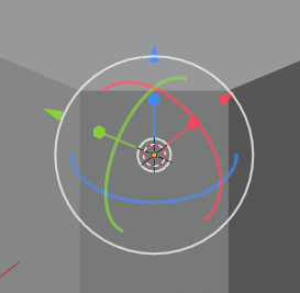A white circle with colored circles and arrows in it
