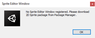 Sprite Editor is not installed by default