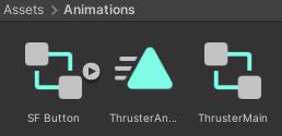 Lander animation assets created