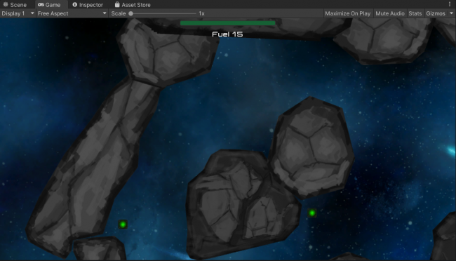 Game View at start of tutorial