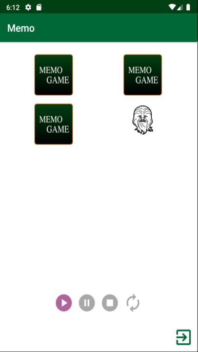 Beginner level of the Memo game