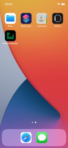 iOS simulator home screen