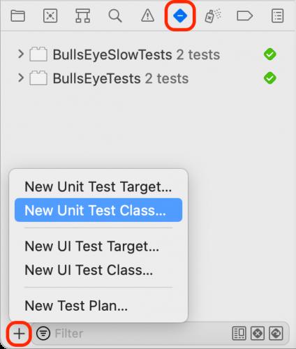 iOS Unit Testing: New Unit Test Class
