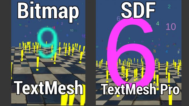 Comparison between bitmap and SDF fonts