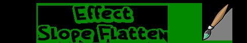 Effect Slope Flatten tool