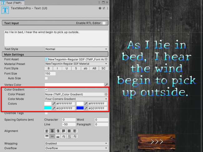 How to set text color gradient in TextMesh Pro