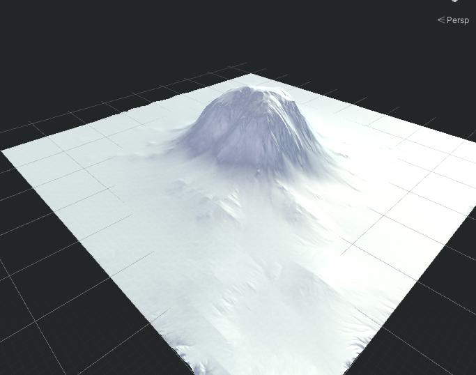 A mountain tinted white