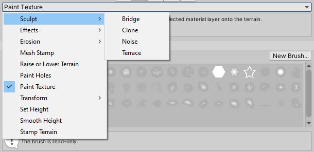 Paint Terrain tools operations