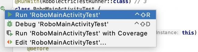 Running RoboMainActivityTest