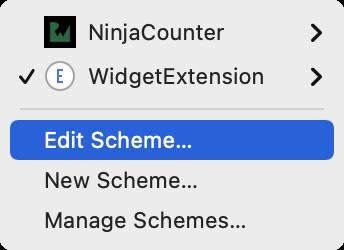 Select Edit scheme...