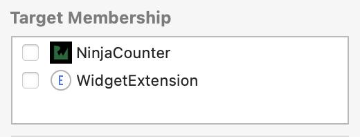 File target memberships not selected