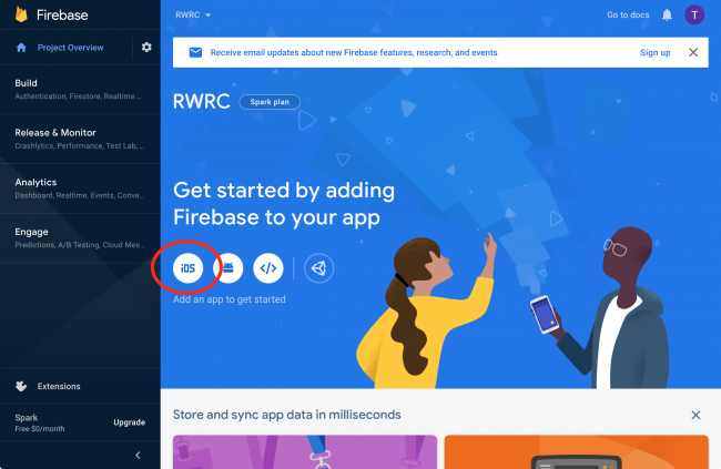 Add Firebase to iOS app