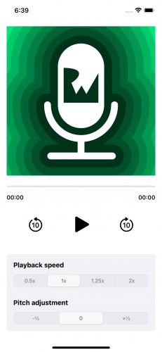 screenshot of the starter project app