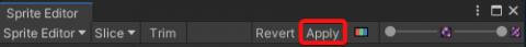 Sprite Editor Apply Button