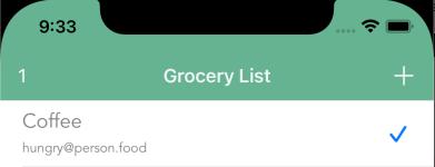 Check item off