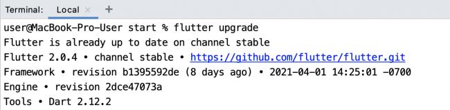 Flutter Upgrade after changing version