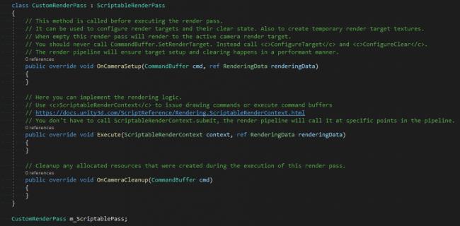 Render pass class code