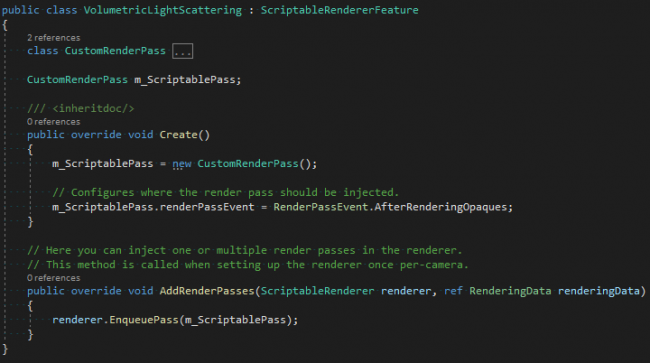 How the renderer feature class appears in the editor