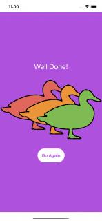 Three Ducks game win screen