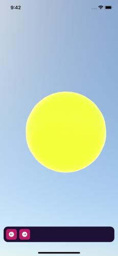 The sun comes into view