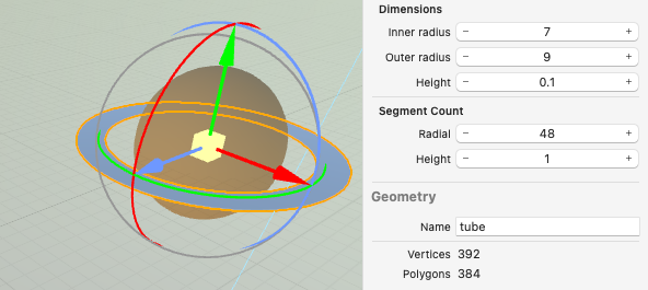 Sizing properties in Saturn's Attributes inspector