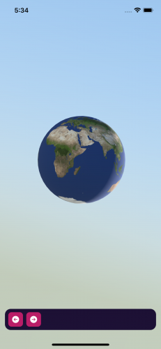 The earth texture in the running app