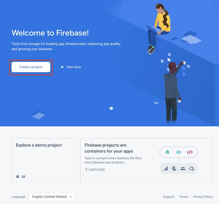 Firebase console