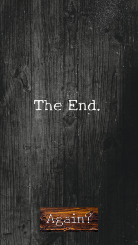 Last screen in the game: the end
