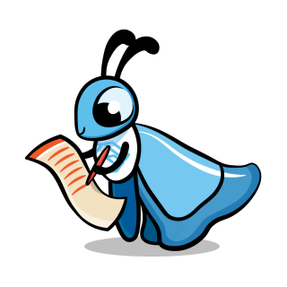 Flutter mascot reading and writing a list