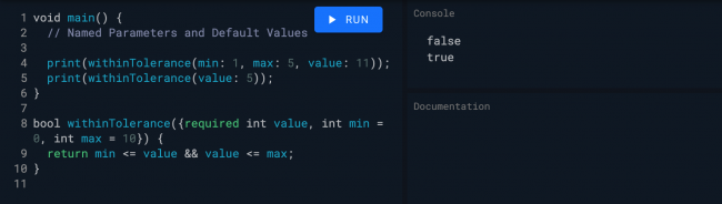 Named and default parameters