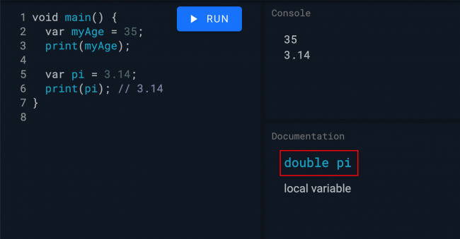 double data type inference