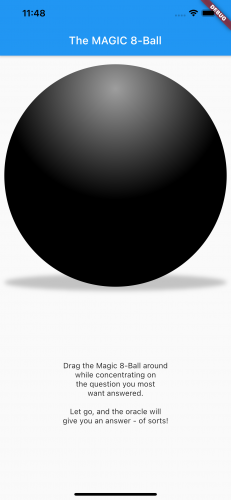 The shadow is safely seated beneath and behind the sphere