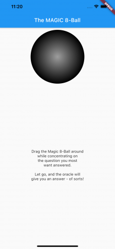 The sphere is now shaded, light in the center to dark at the edges