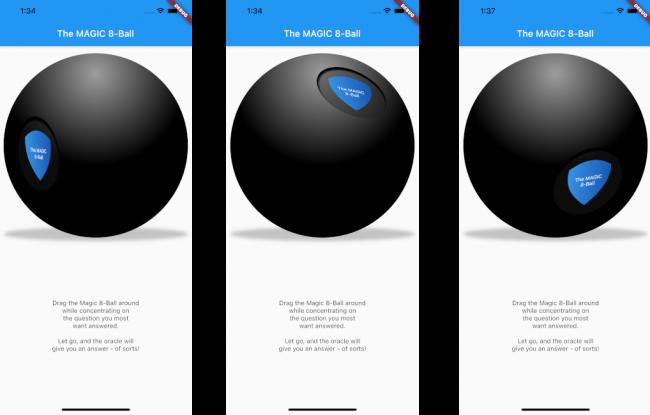 Three rotated spheres