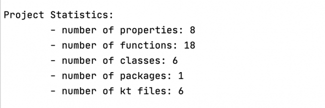 detekt Processor statistics