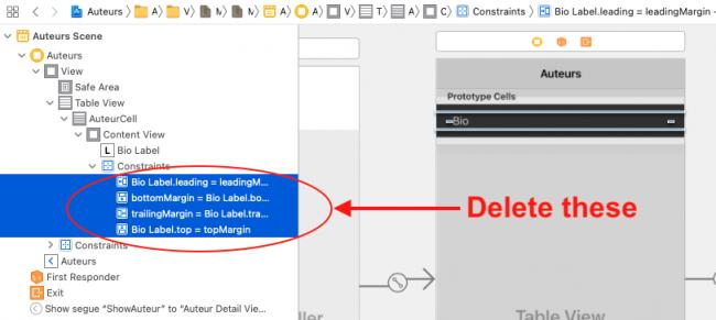 Delete all of the bio label constraints