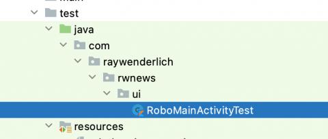 RoboMainActivityTest Location