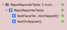 The Composable Architecture app with tests showing as passing in Xcode